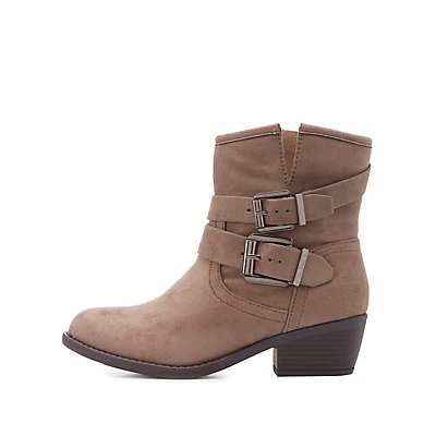 Double Buckle Ankle Boots