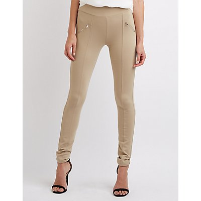High-Waisted Moto Leggings