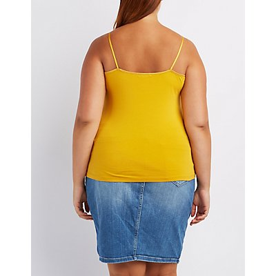 Plus Size Spaghetti Strap Cotton Cami