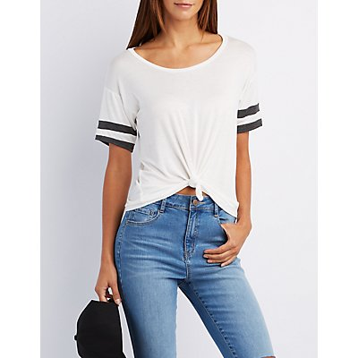 Knotted Football Tee