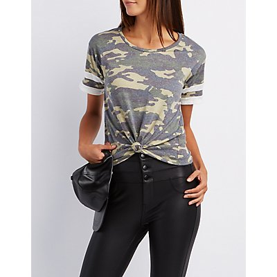 Camo Knotted Football Tee