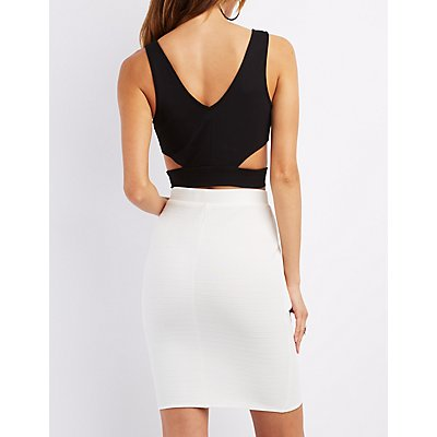 Cut-Out V-Neck Crop Top