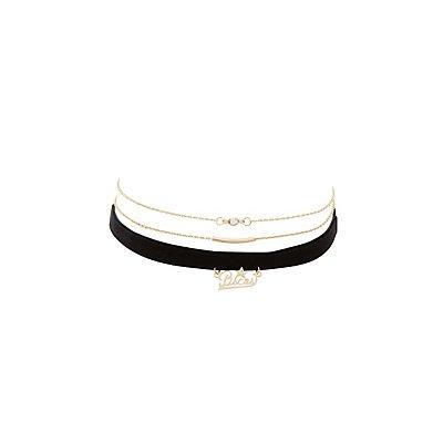 Pisces Zodiac Choker Necklaces -3 Pack