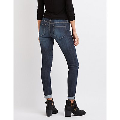 Cello Skinny Destroyed Boyfriend Jeans | Charlotte Russe