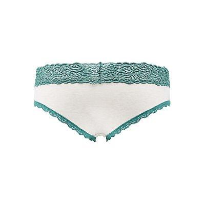 Lace-Trim Hipster Panties