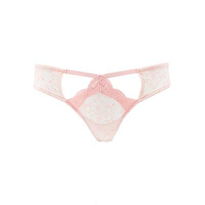 Burnout Mesh & Lace Thong Panties