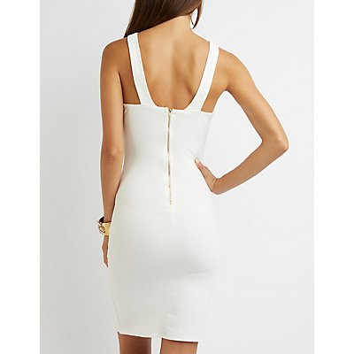Cross Over Bust Bodycon Dress
