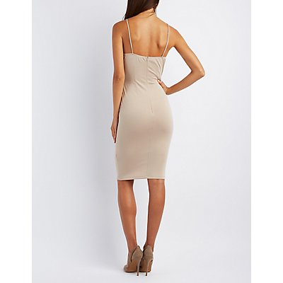 Lattice Bodycon Dress