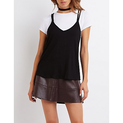 Strappy Layered Tee