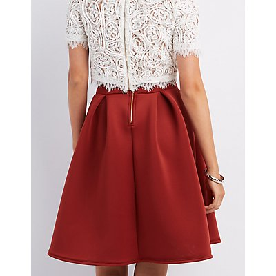 Pleated Full Midi Skirt