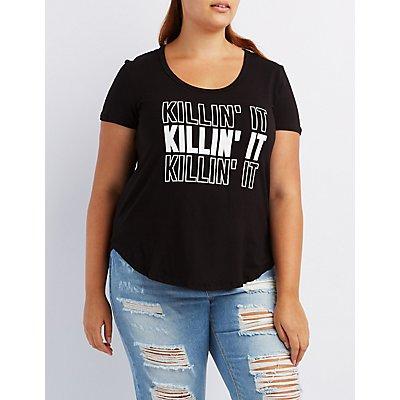 Plus Size Killin' It Graphic Tee