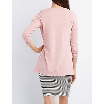Marled Longline Cardigan Sweater