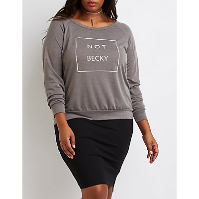Plus Size Not Becky Graphic Sweatshirt