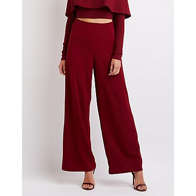 Pleated Wide-Leg Trousers