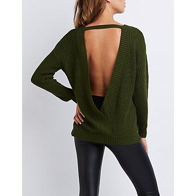 Backless Tunic Sweater