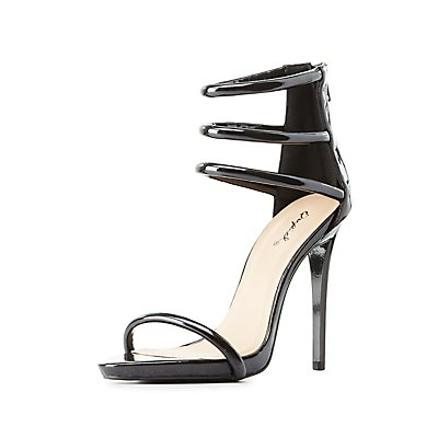 Qupid Tubular Two-Piece Dress Sandals