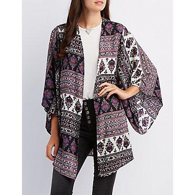 Border Print Kimono