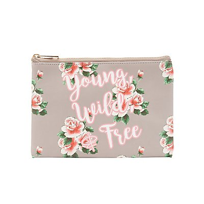 Floral Printed Zip Pouch