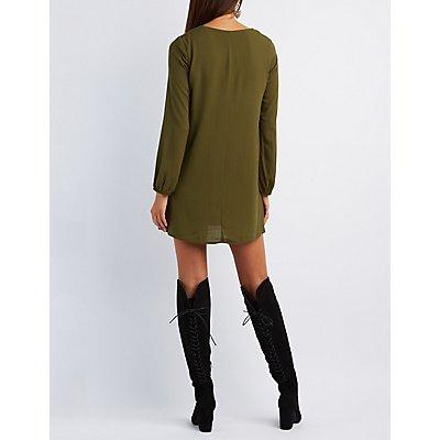 Lattice Shirt Dress