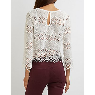 Chevron Crochet Lace Top