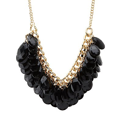 Chunky Chainlink & Beaded Statement Necklace
