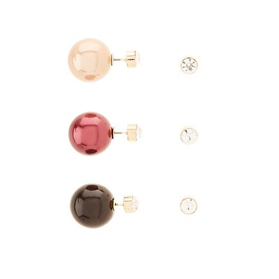 Oversize Ball Stud Earrings