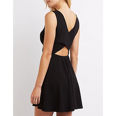 Cross-Back Skater Dress