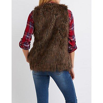 Shaggy Faux Fur Vest