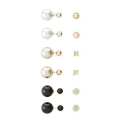 Stud & Front-Back Earrings - 6 pack