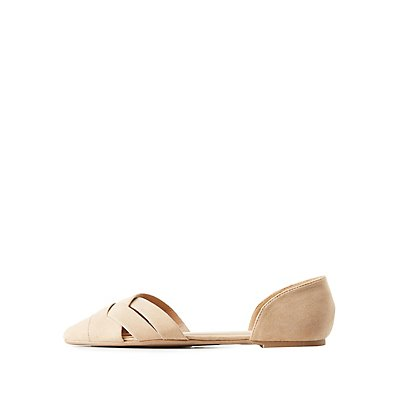Woven Two-Piece Pointed Toe Flats