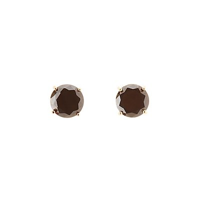 Oversize Cubic Zirconia Stud Earrings