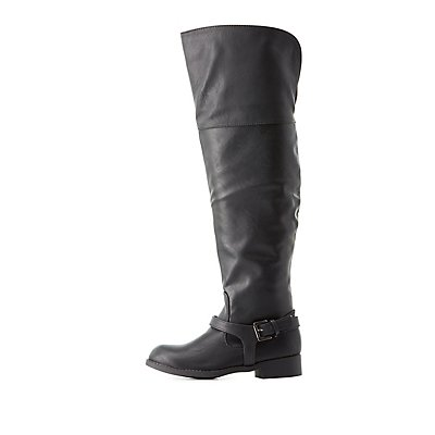 Buckled Over-the-Knee Boots