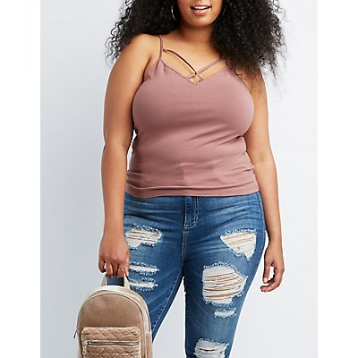 Plus Size Strappy Cami Tank Top