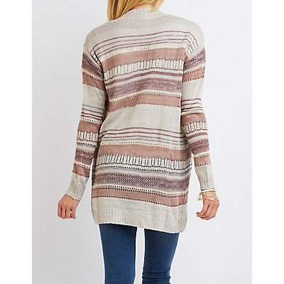 Striped Cocoon Cardigan