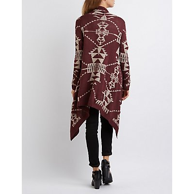 Aztec Waterfall Longline Cardigan