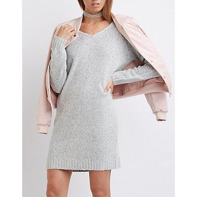 Open Back Sweater Dress