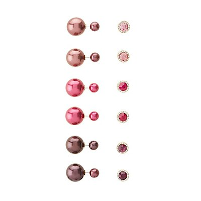 Stud & Front-Back Earrings - 6 pack