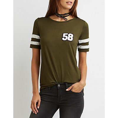 Patched Football Tee