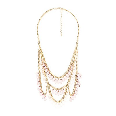 Layered Bead & Chainlink Statement Necklace