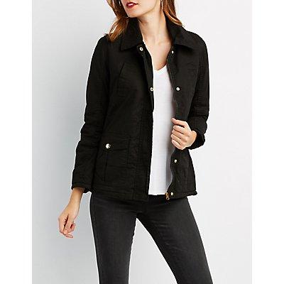 Padded Drawstring Anorak Jacket