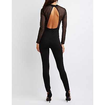 Shadow Stripe Bodice Jumpsuit