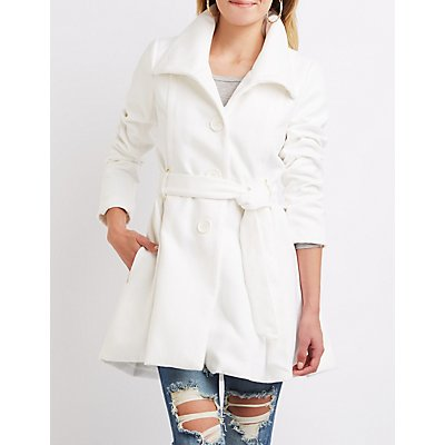 Wool Blend Swing Coat
