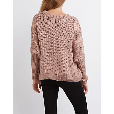 Open Knit Oversized Sweater