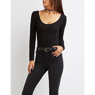 Strappy Open Back Bodysuit