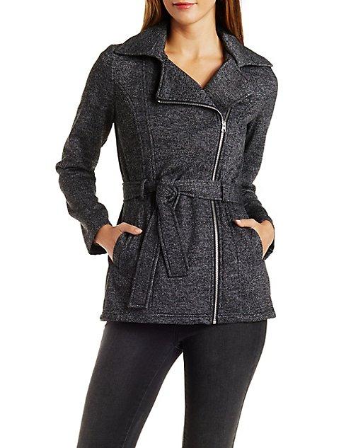 Fleece Trench Coat