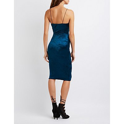 Velvet Bodycon Midi Dress