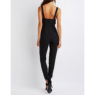 Plunging Cut-Out Jumpsuit
