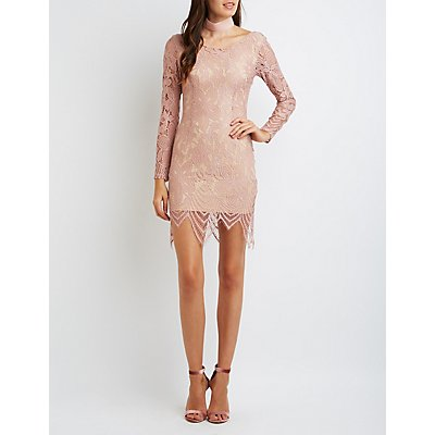Open Back Lace Midi Dress