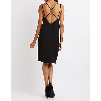 Strappy Caged Slip Dress