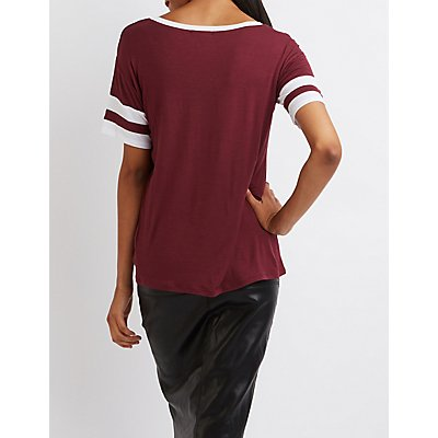 Colorblock Football Tee